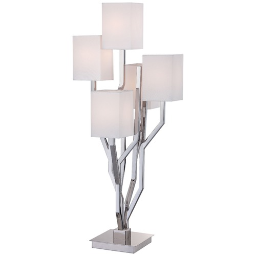 George Kovacs Lighting George Kovacs Portables Polished Nickel Table Lamp with Rectangle Shade P1605-613