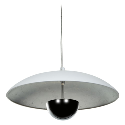 Access Lighting Access Lighting Pulsar White / Silver LED Pendant Light with Bowl / Dome Shade 70073LED-WH/SILV