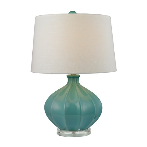 Dimond Lighting Dimond Lighting Medium Seafoam Glaze Table Lamp with Empire Shade D2624