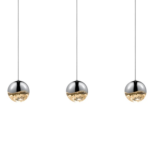 Sonneman Lighting Sonneman Grapes Polished Chrome 3 Light LED Multi-Light Pendant   2920.01-LRG