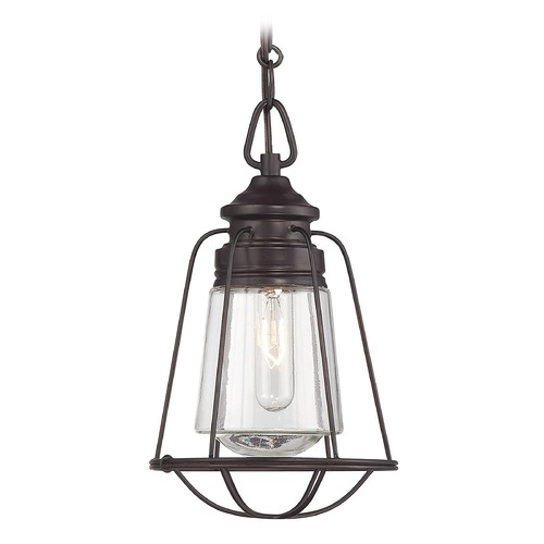 Savoy House Savoy House English Bronze Mini-Pendant Light with Cylindrical Shade 7-5060-1-13