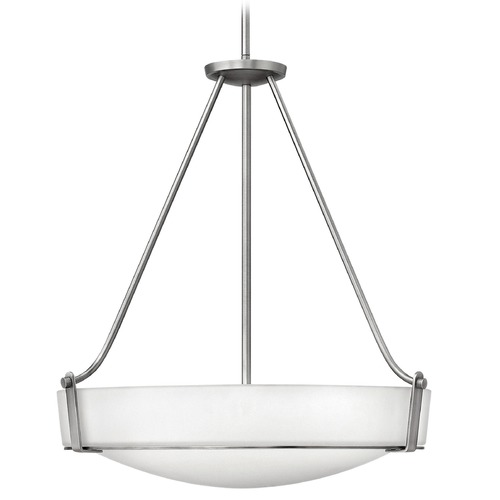 Hinkley Lighting Hinkley Lighting Hathaway Antique Nickel Pendant Light with Bowl / Dome Shade 3224AN-GU24