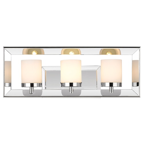 Golden Lighting Golden Lighting Smyth Chrome Bathroom Light 2074-BA3 CH