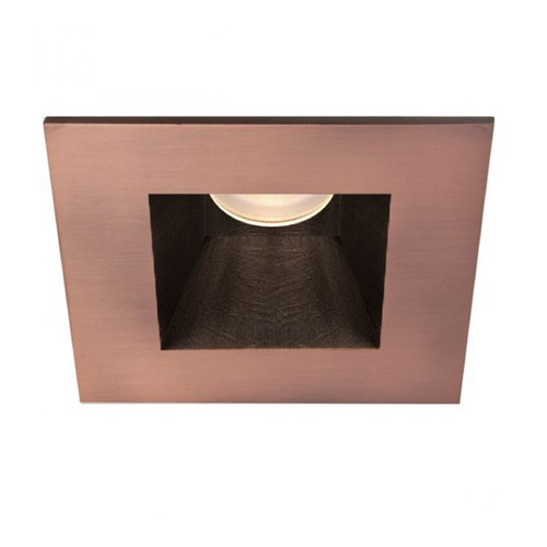 WAC Lighting WAC Lighting Square Copper Bronze 3.5-Inch LED Recessed Trim 3000K 1235LM 30 Degree HR3LEDT718PN830CB
