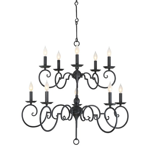 Savoy House Savoy House Lighting Winbrook Aged Iron Chandelier 1-1171-10-55