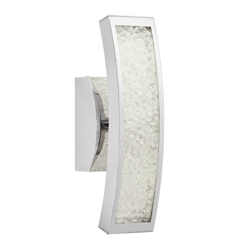 Elan Lighting Elan Lighting Crushed Ice Chrome LED Sconce 83506