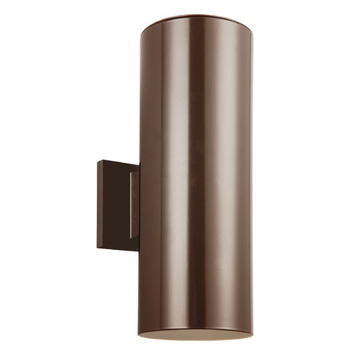 Sea Gull Lighting Sea Gull Lighting Outdoor Cylinders Bronze LED Outdoor Wall Light 8313902EN3-10