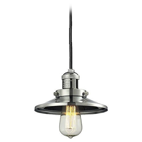 Innovations Lighting Innovations Lighting Railroad Polished Nickel Mini-Pendant Light with Coolie Shade 201C-PN-M1