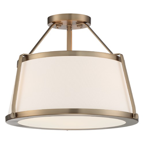 Satco Lighting Satco Lighting Cutty Burnished Brass Semi-Flushmount Light 60/6997