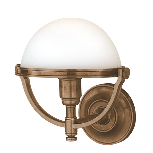 Hudson Valley Lighting Sconce Wall Light with White Glass in Historic Bronze Finish 3301-HB