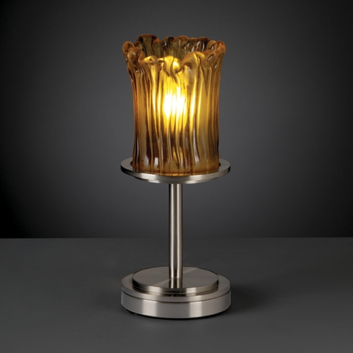 Justice Design Group Justice Design Group Veneto Luce Collection Table Lamp GLA-8798-16-AMBR-NCKL