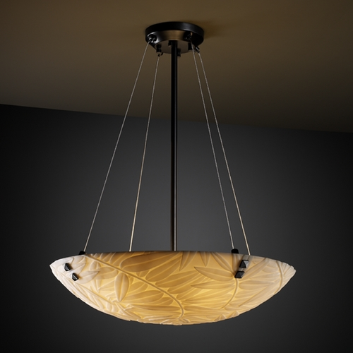 Justice Design Group Justice Design Group Porcelina Collection Pendant Light PNA-9662-35-BMBO-MBLK-F3