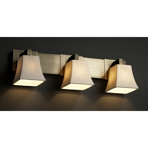 Justice Design Group Justice Design Group Limoges Collection Bathroom Light POR-8923-40-WFAL-ABRS