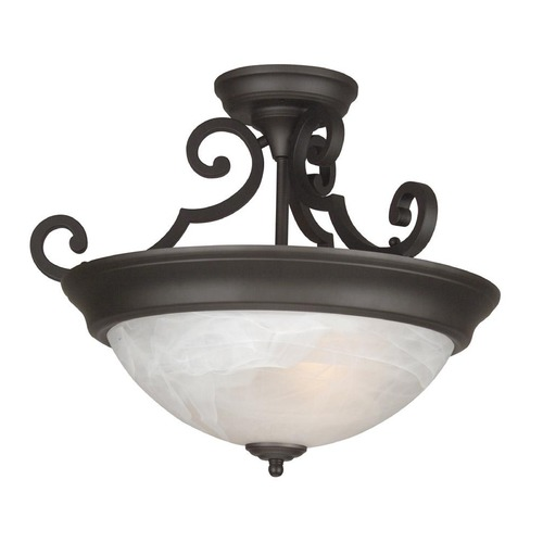 Jeremiah Lighting Jeremiah Oiled Bronze Semi-Flushmount Light X224-OB