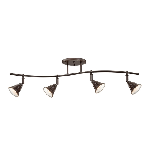 Quoizel Lighting Farmhouse Track Light Kit Bronze Eastvale by Quoizel Lighting EVE1404PN