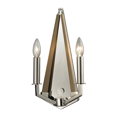 Elk Lighting Modern Sconce Wall Light in Polished Nickel Finish 31470/2