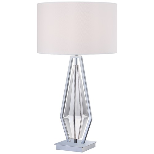 George Kovacs Lighting George Kovacs Portables Chrome Table Lamp with Cylindrical Shade P1606-077