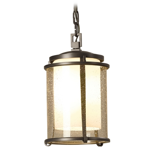Hubbardton Forge Lighting Hubbardton Forge Lighting Meridian Burnished Steel Outdoor Hanging Light 365610-08-ZS297