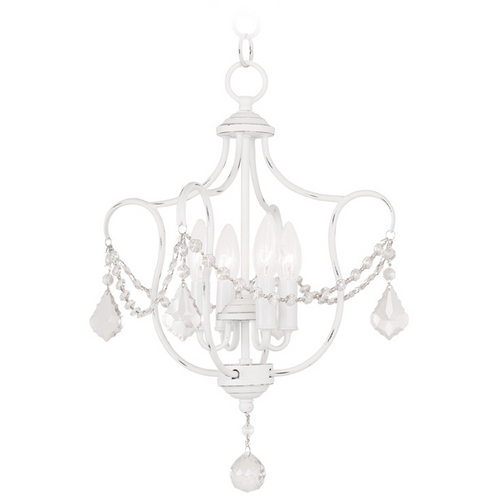 Livex Lighting Livex Lighting Chesterfield Antique White Pendant Light 6434-60