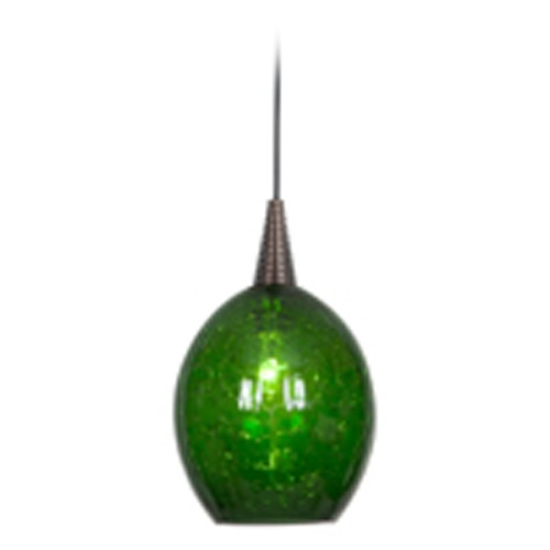 Access Lighting Access Lighting Zeta Bronze Mini-Pendant Light with Oblong Shade 94046-BRZ/JADE