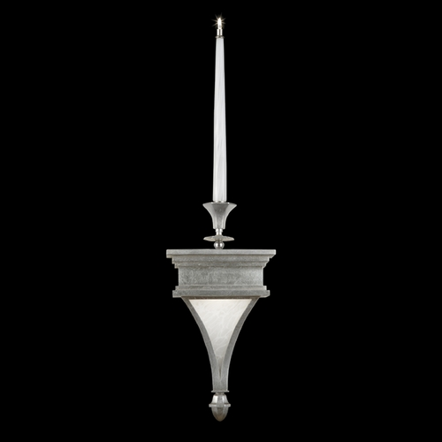 Fine Art Lamps Fine Art Lamps Candlelight 21st Century Silver Clear Silver Leaf Accented with Polished Nickel Fitti 805050-2ST