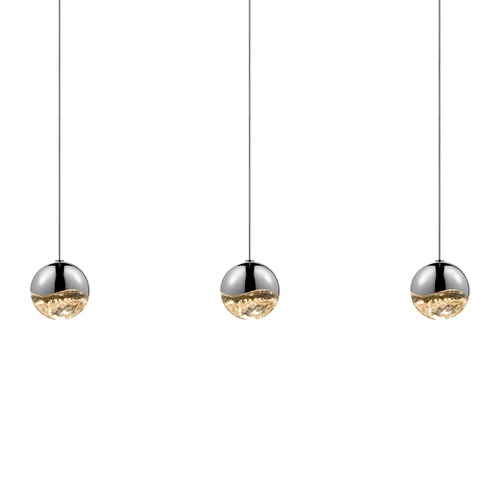 Sonneman Lighting Sonneman Grapes Polished Chrome 3 Light LED Multi-Light Pendant 2920.01-MED