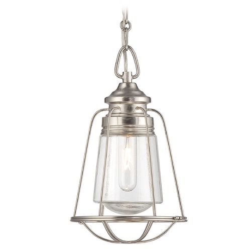 Savoy House Savoy House Satin Nickel Mini-Pendant Light with Cylindrical Shade 7-5060-1-SN