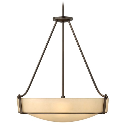 Hinkley Lighting Hinkley Lighting Hathaway Olde Bronze Pendant Light with Bowl / Dome Shade 3224OB-GU24