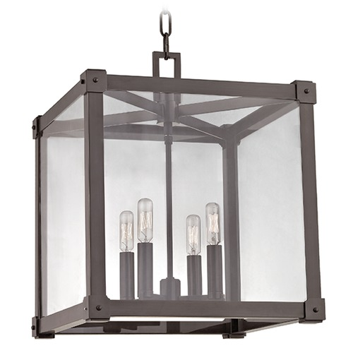 Hudson Valley Lighting Forsyth 4 Light Pendant Light Square Shade - Old Bronze 8616-OB