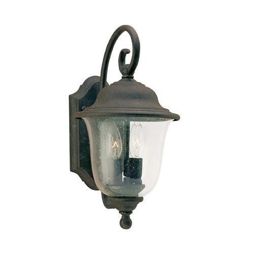 Sea Gull Lighting Seeded Glass LED Outdoor Wall Light Bronze Sea Gull Lighting 8459EN-46