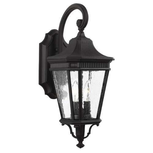 Feiss Lighting Feiss Lighting Cotswold Lane Black Outdoor Wall Light OL5421BK
