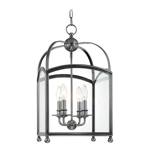 Hudson Valley Lighting Pendant Light with Clear Glass in Polished Nickel Finish 8412-PN
