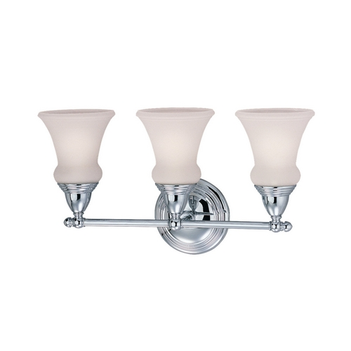 Sea Gull Lighting Bathroom Light with White Glass in Chrome Finish 40125-05
