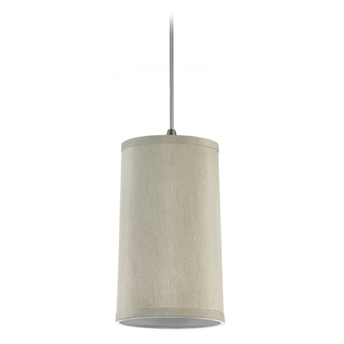 Sea Gull Lighting Modern Mini-Pendant Light with Beige / Cream Shade 94626-989