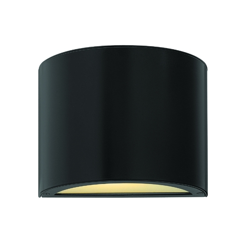 Hinkley Lighting Modern Outdoor Wall Light with Etched in Satin Black Finish 1667SK