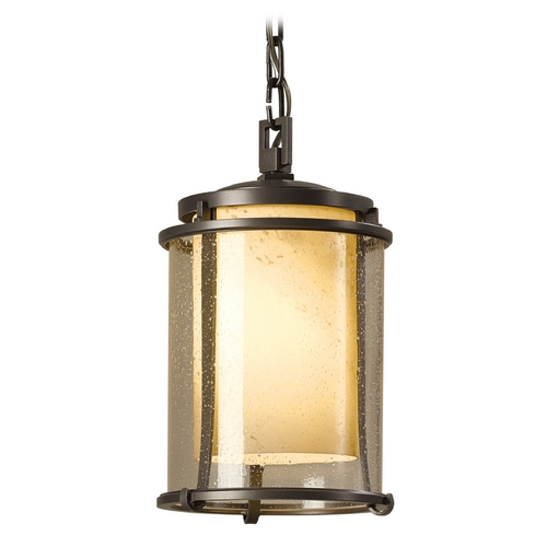 Hubbardton Forge Lighting Hubbardton Forge Lighting Meridian Burnished Steel Outdoor Hanging Light 365610-08-ZT297