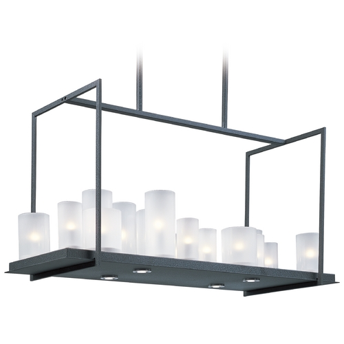 Maxim Lighting Maxim Lighting Urban Nights Textured Black Rectangle Chandelier  32467FTTXB