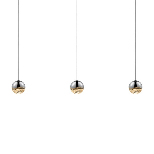 Sonneman Lighting Sonneman Grapes Polished Chrome 3 Light LED Multi-Light Pendant 2920.01-SML