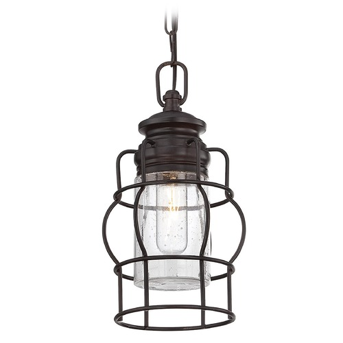 Savoy House Savoy House English Bronze Mini-Pendant Light with Cylindrical Shade 7-5061-1-13