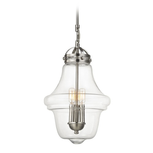 Elk Lighting Elk Lighting Gramercy Satin Nickel Pendant Light with Urn Shade 67143/3