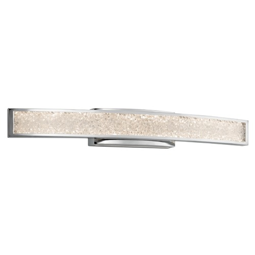 Elan Lighting Elan Lighting Crushed Ice Chrome LED Bathroom Light 83502