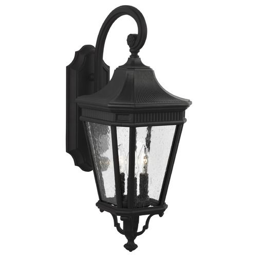 Feiss Lighting Feiss Lighting Cotswold Lane Black Outdoor Wall Light OL5422BK