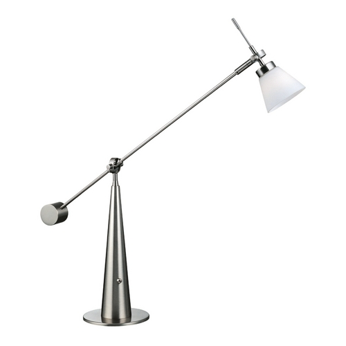 Lite Source Lighting Lite Source Lighting Admiral Polished Steel Desk Lamp LS-2633PS/FRO