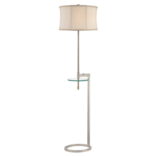 Design Classics Lighting Gallery Tray Floor Lamp with Tapered Drum Shade DCL 6184-09 GT001 SH7644