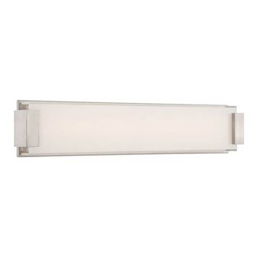 Modern Forms by WAC Lighting Brushed Nickel LED Bathroom Light - Vertical or Horizontal Mounting WS-3226-BN