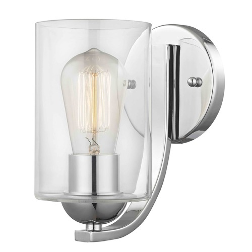 Design Classics Lighting Chrome Sconce 585-26 GL1040C