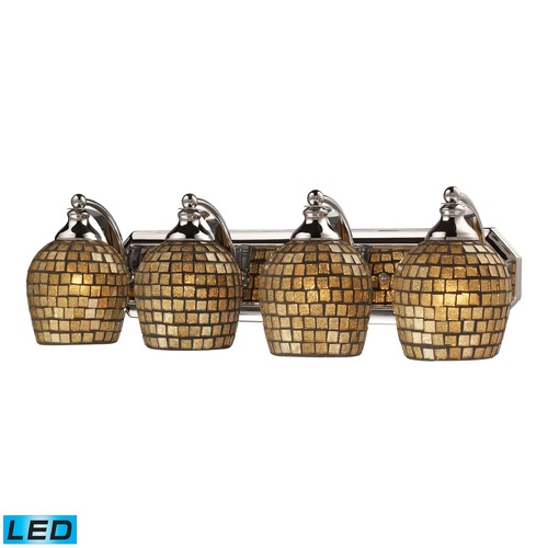 Elk Lighting Elk Lighting Bath and Spa Polished Chrome LED Bathroom Light 570-4C-GLD-LED