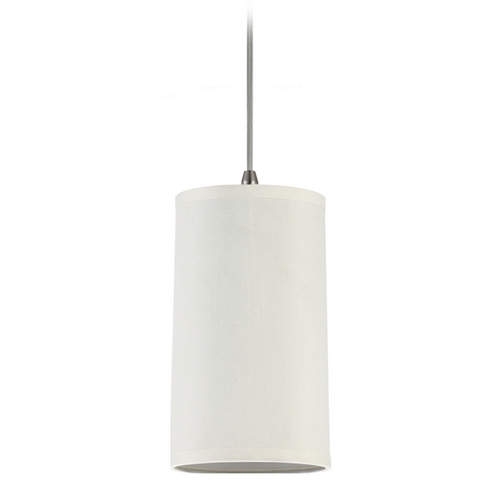 Sea Gull Lighting Modern Mini-Pendant Light with Beige / Cream Shade 94626-992