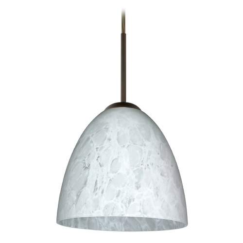 Besa Lighting Besa Lighting Vila Bronze LED Mini-Pendant Light 1JT-447019-LED-BR