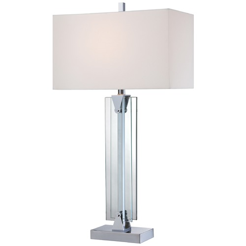 George Kovacs Lighting George Kovacs Portables Chrome Table Lamp with Rectangle Shade P1608-077